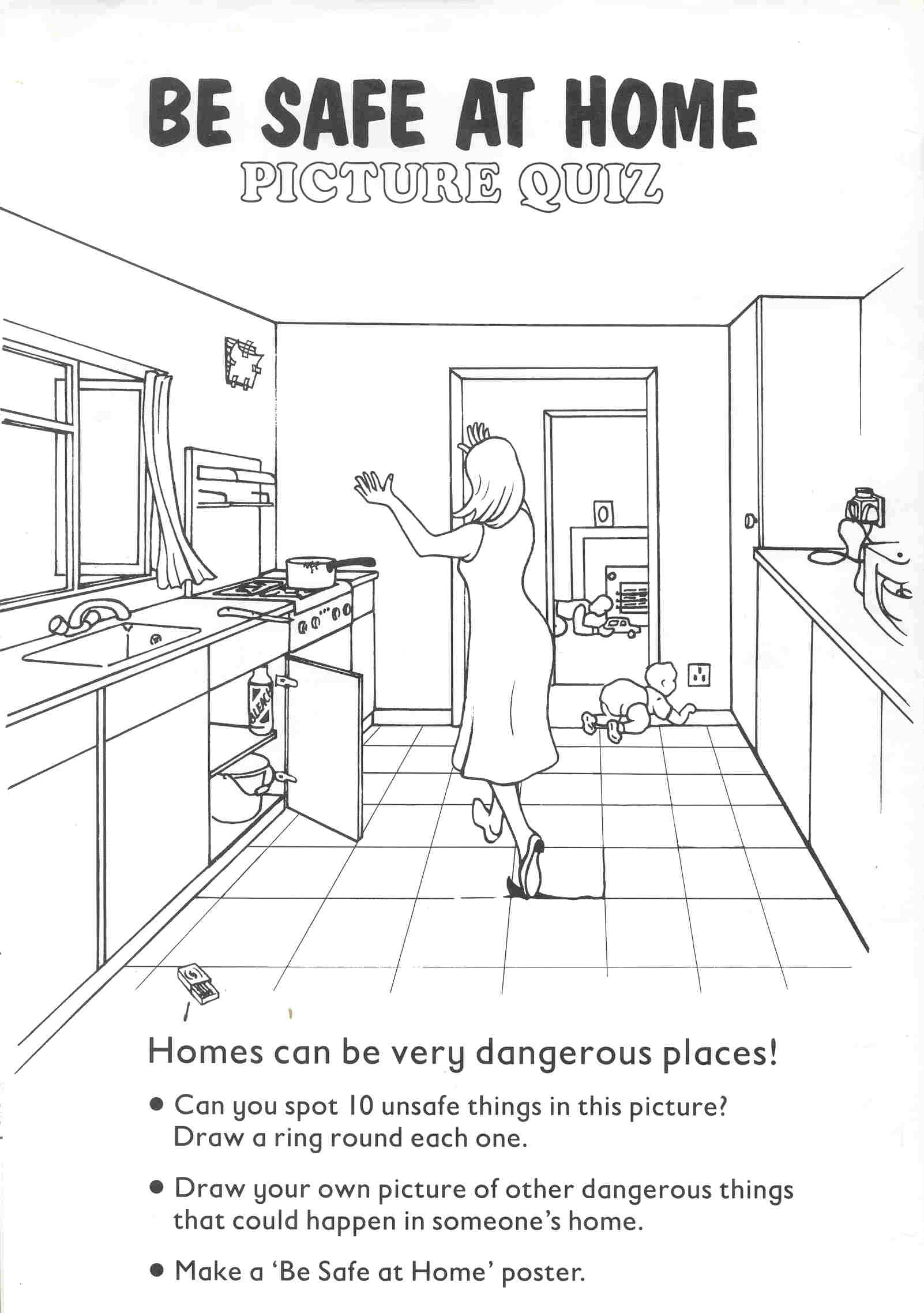 Printable Worksheets Home : Home safety worksheets free library download